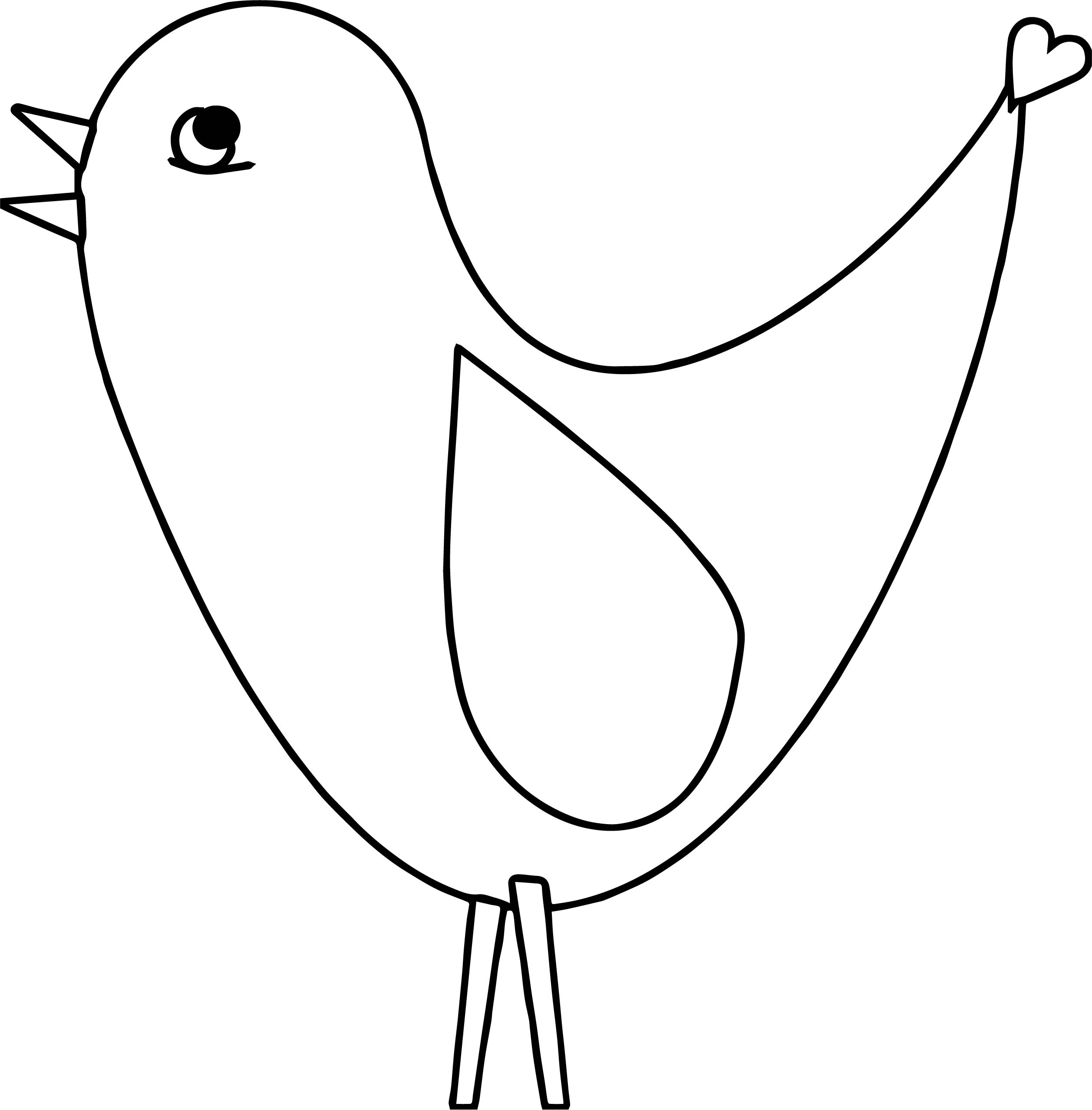 One Bird Coloring Page