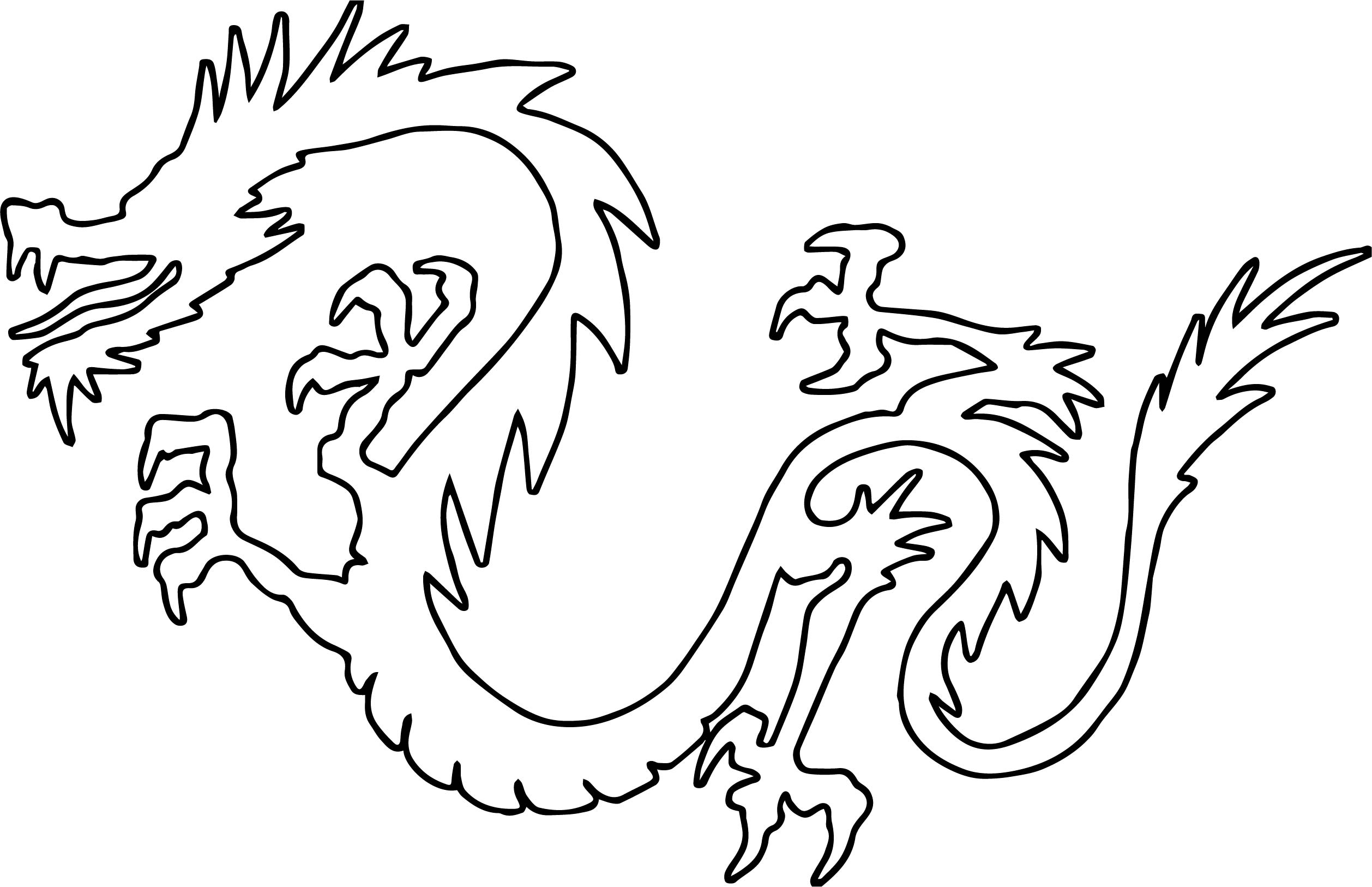 Outline Dragon Coloring Page