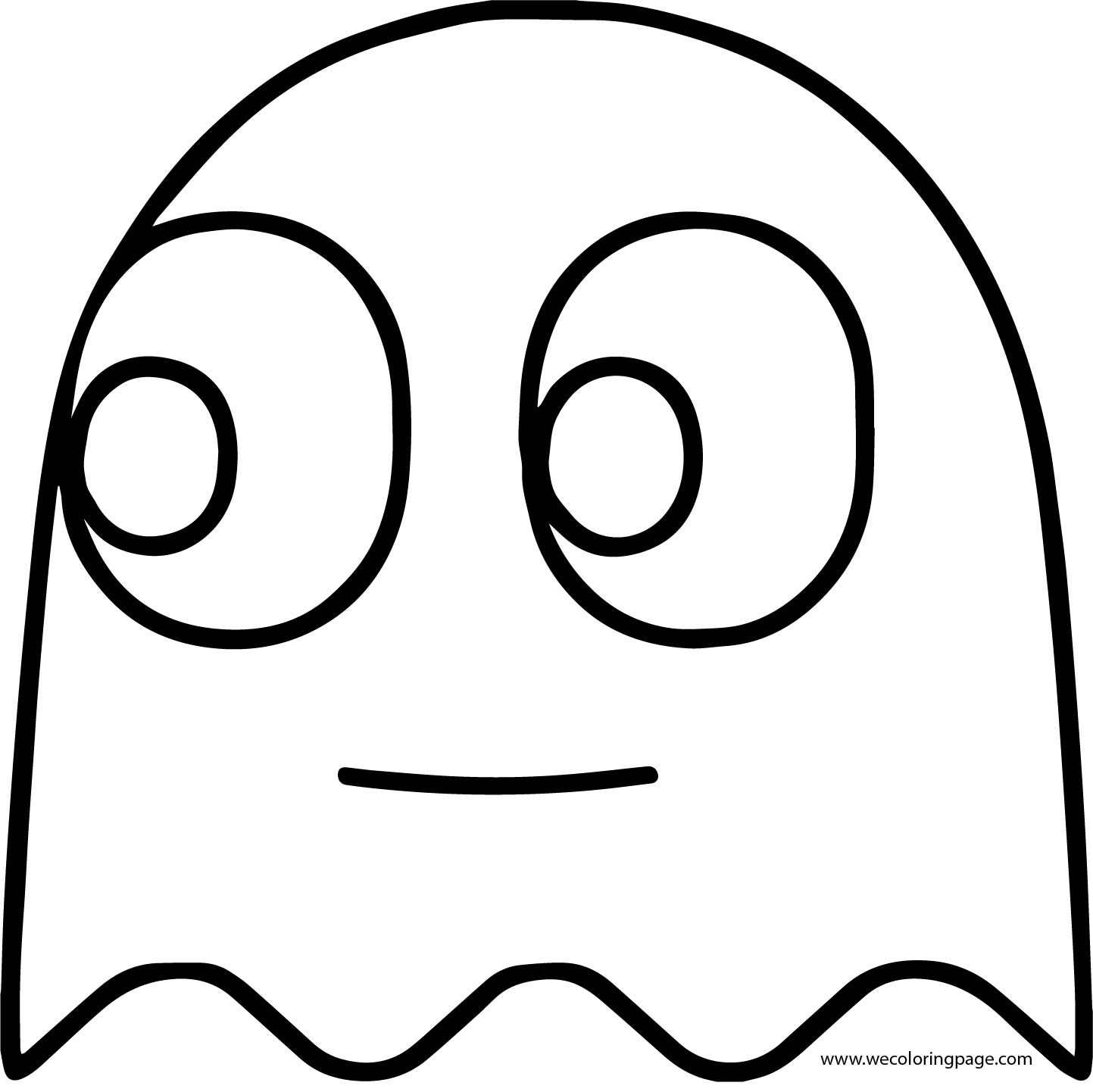 Pacman Pac Man Ghost Coloring