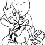 Pbs Kids Caillou Loving Cat Coloring Page