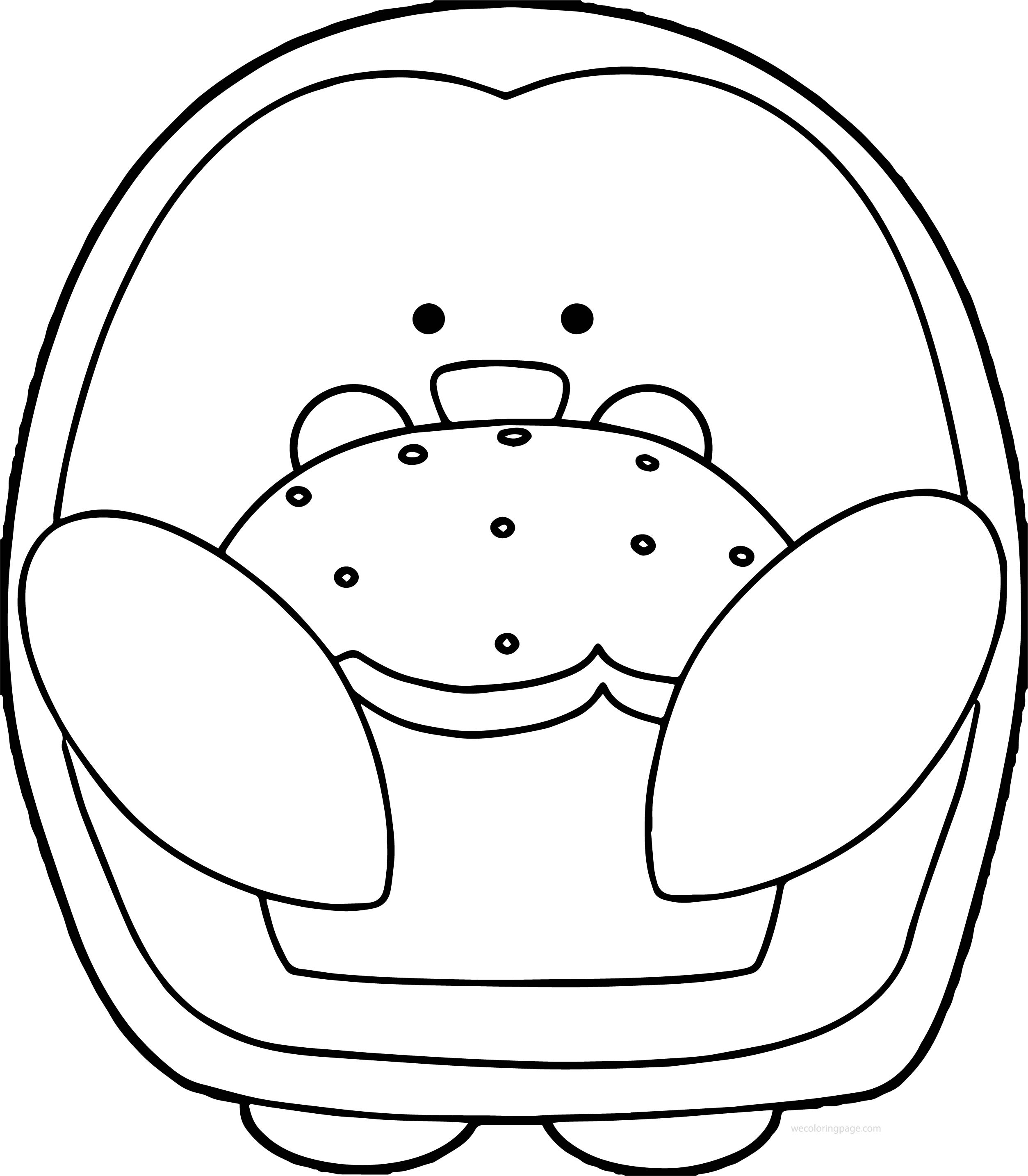 Penguin With Cupcake Coloring Page