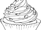 Perfect Perfectly Cupcake Coloring Page Sketch