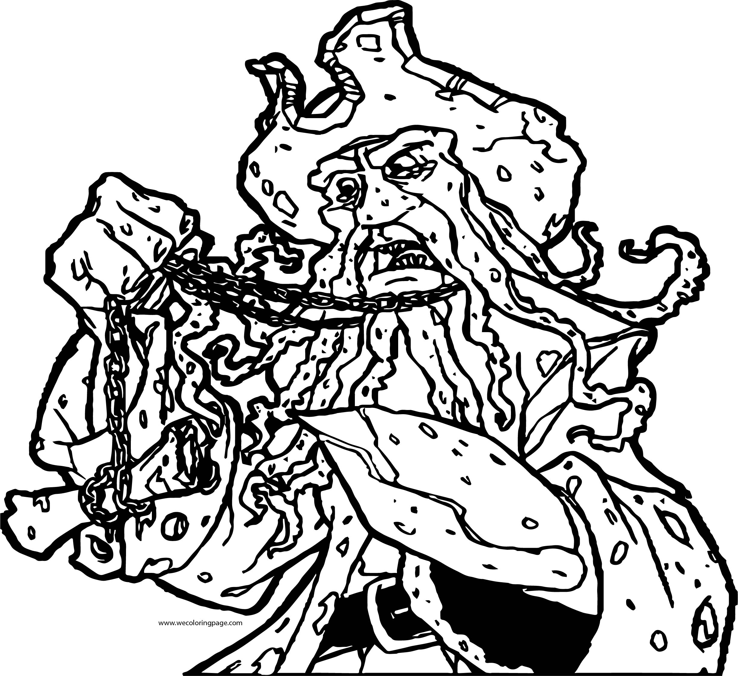 Pirates of the Caribbean Man Character Dave Jones Catch Coloring Page