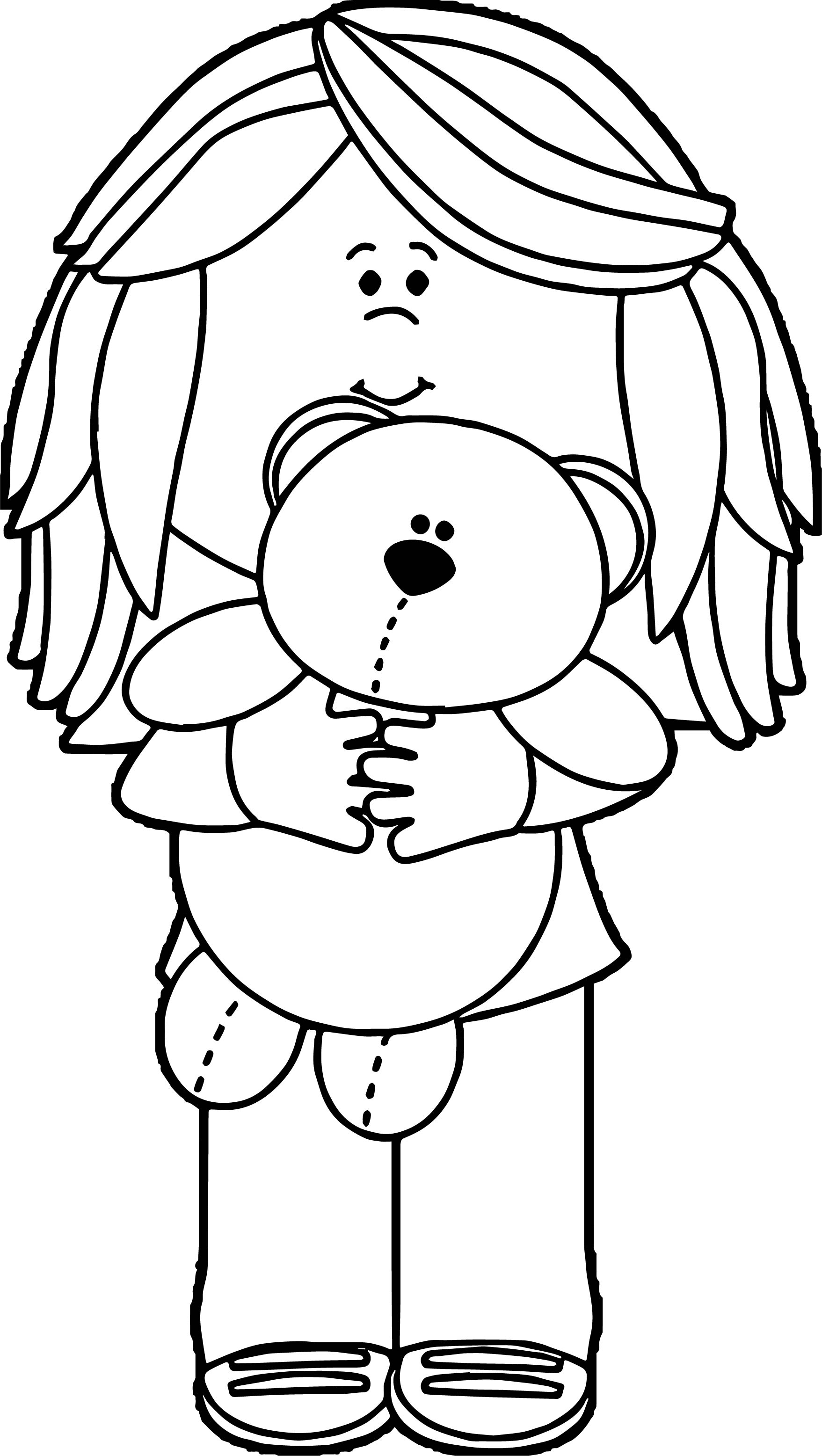 Play Bear Girl Coloring Page