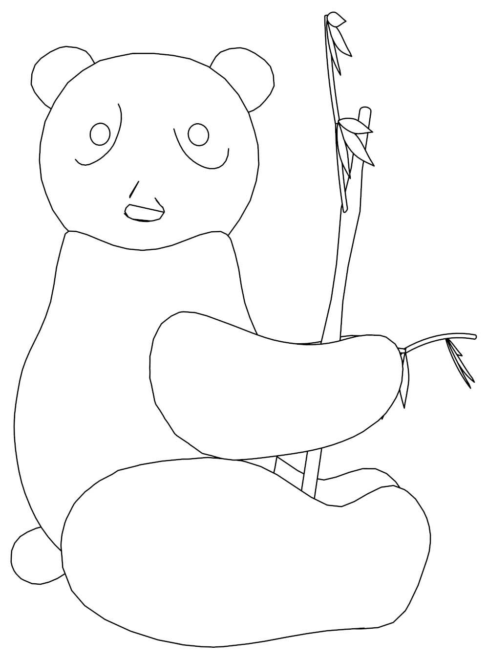Playing Panda Coloring Page