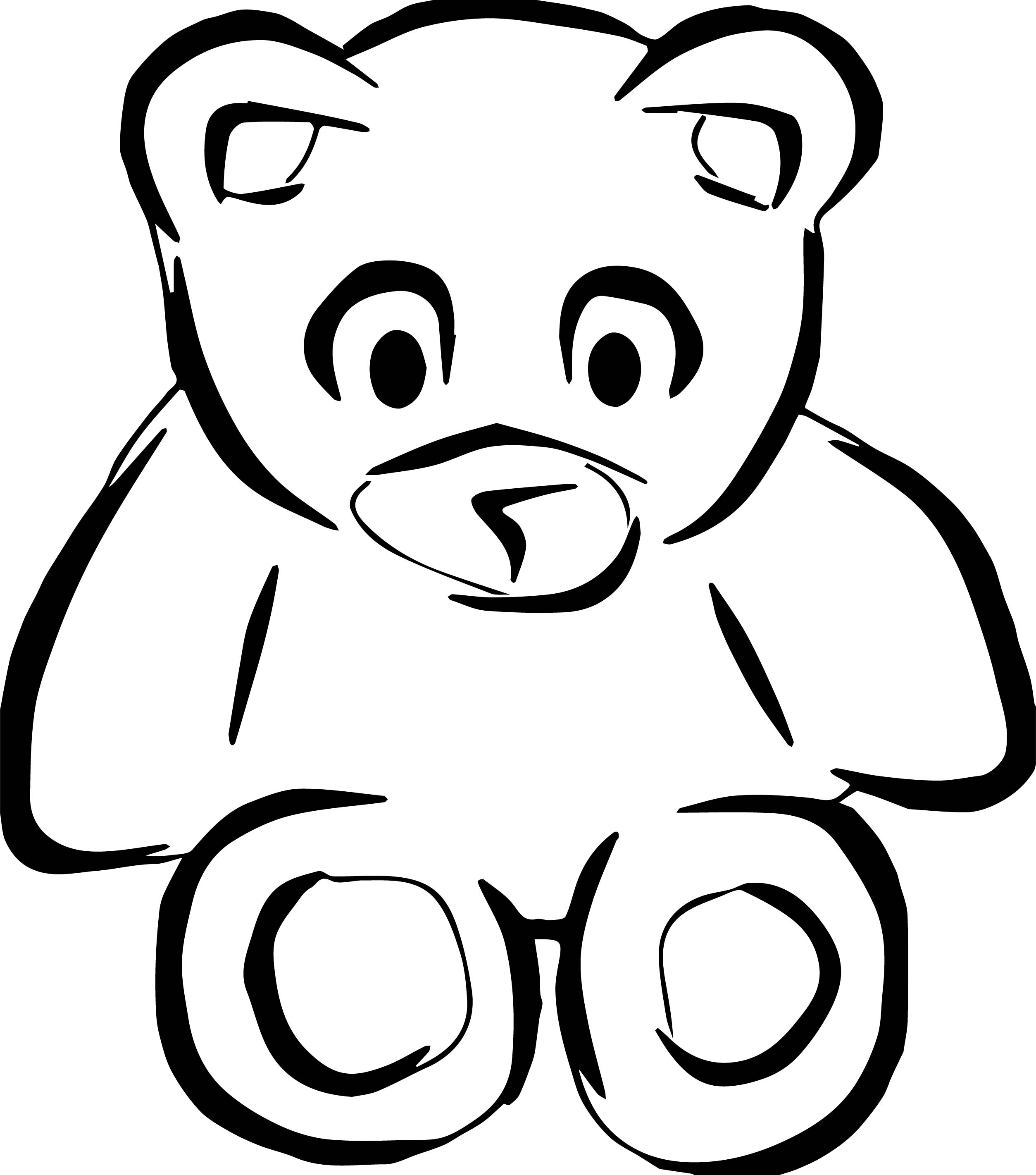 Point Bear Coloring Page