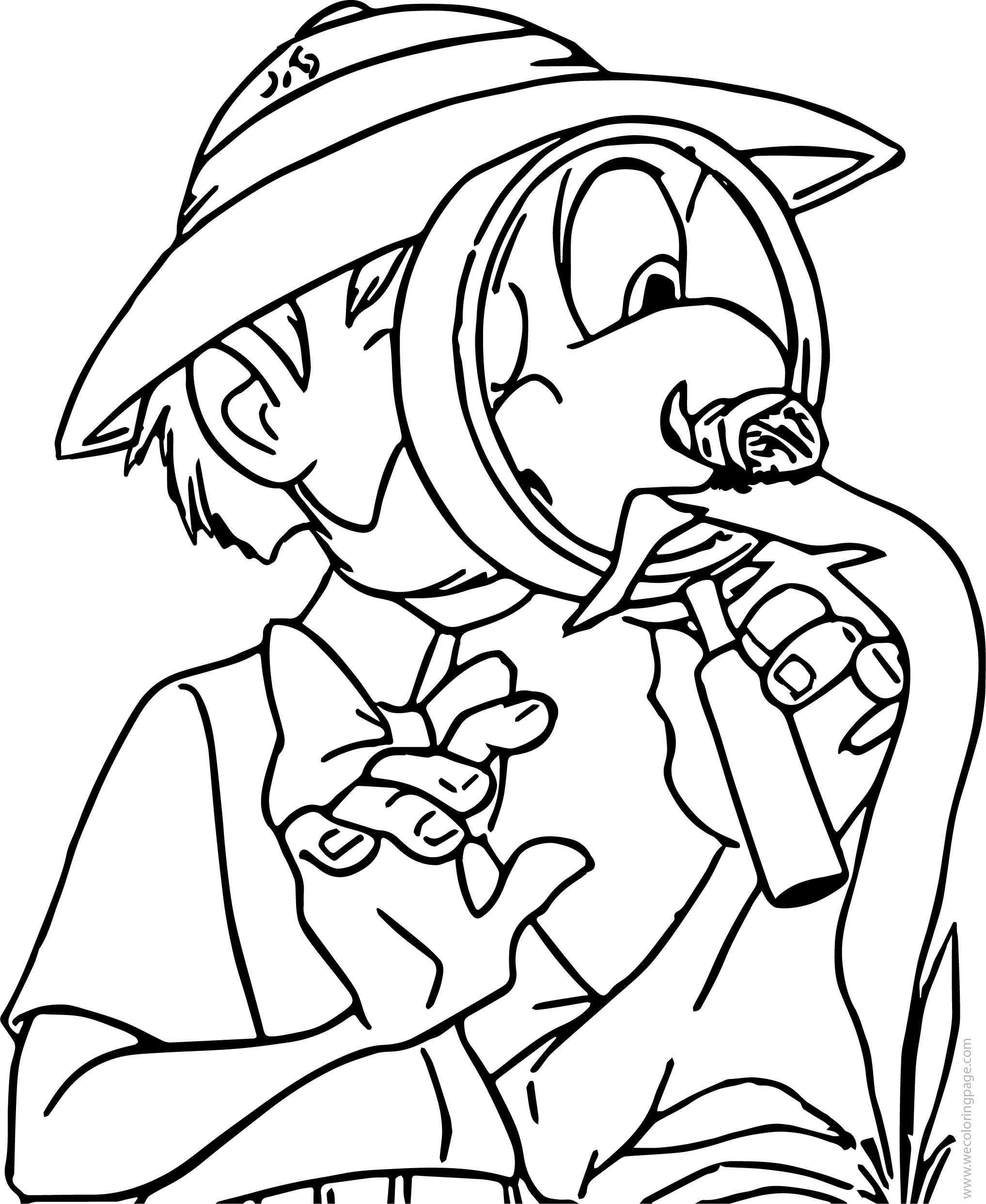 Porter Magnifying Glass Coloring Page