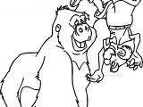 Porter Monkey Upside Coloring Page