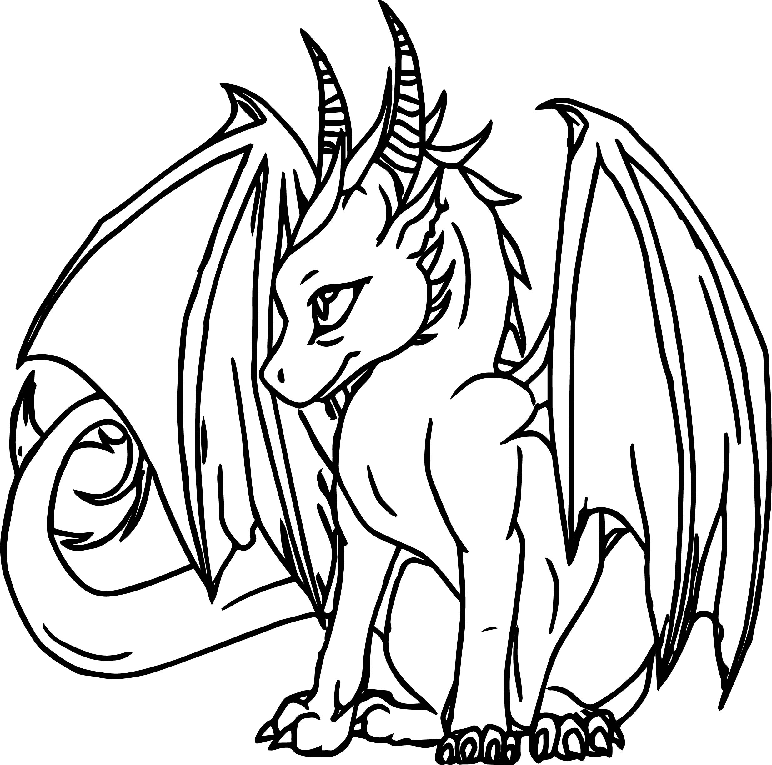 Power Dragon Coloring Page