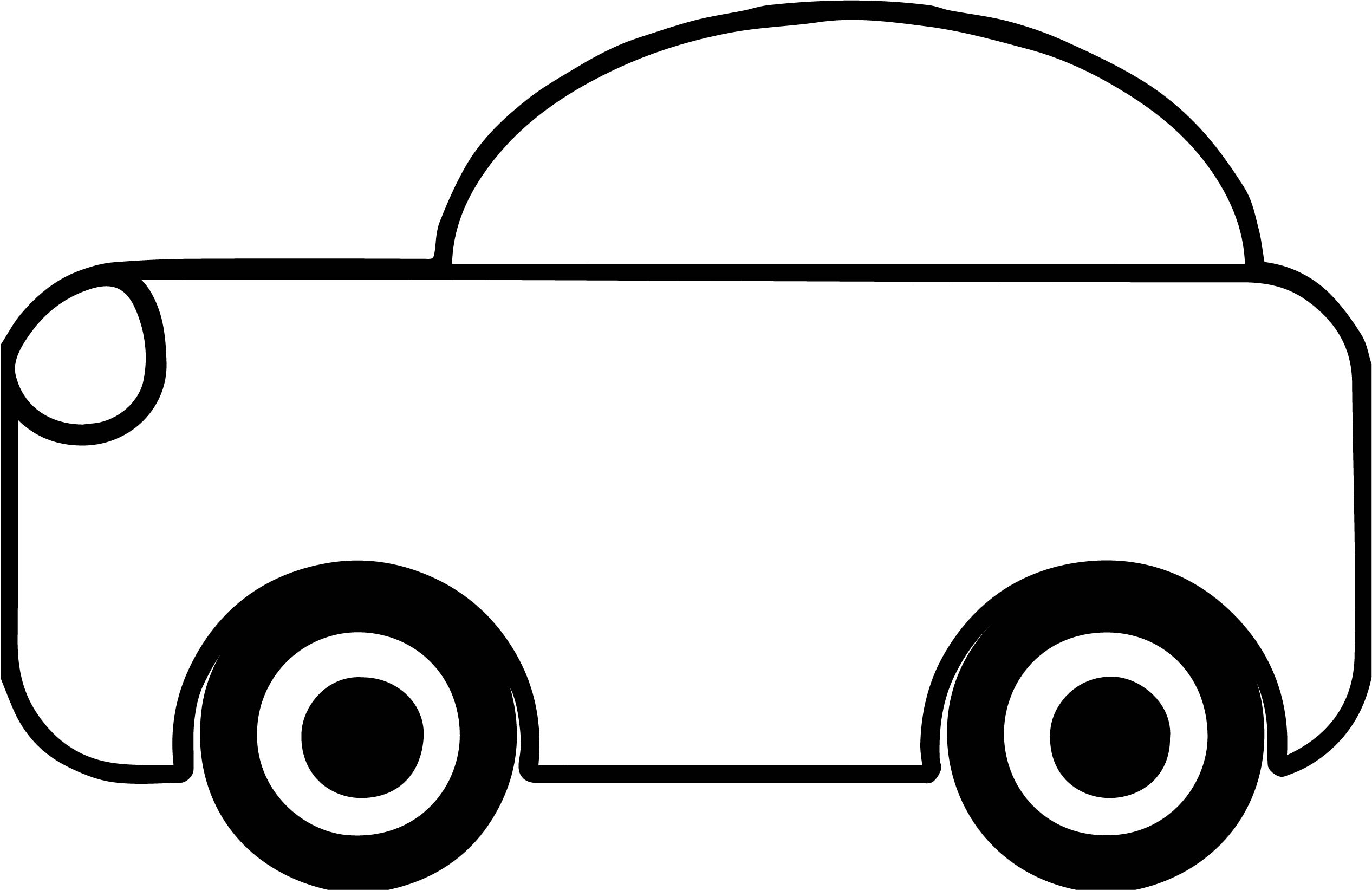 Preschool Basic Car Coloring Page