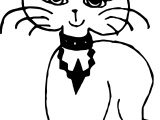 Princess Cat Coloring Page