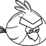 Red Animation Fly Angry Birds Coloring Page