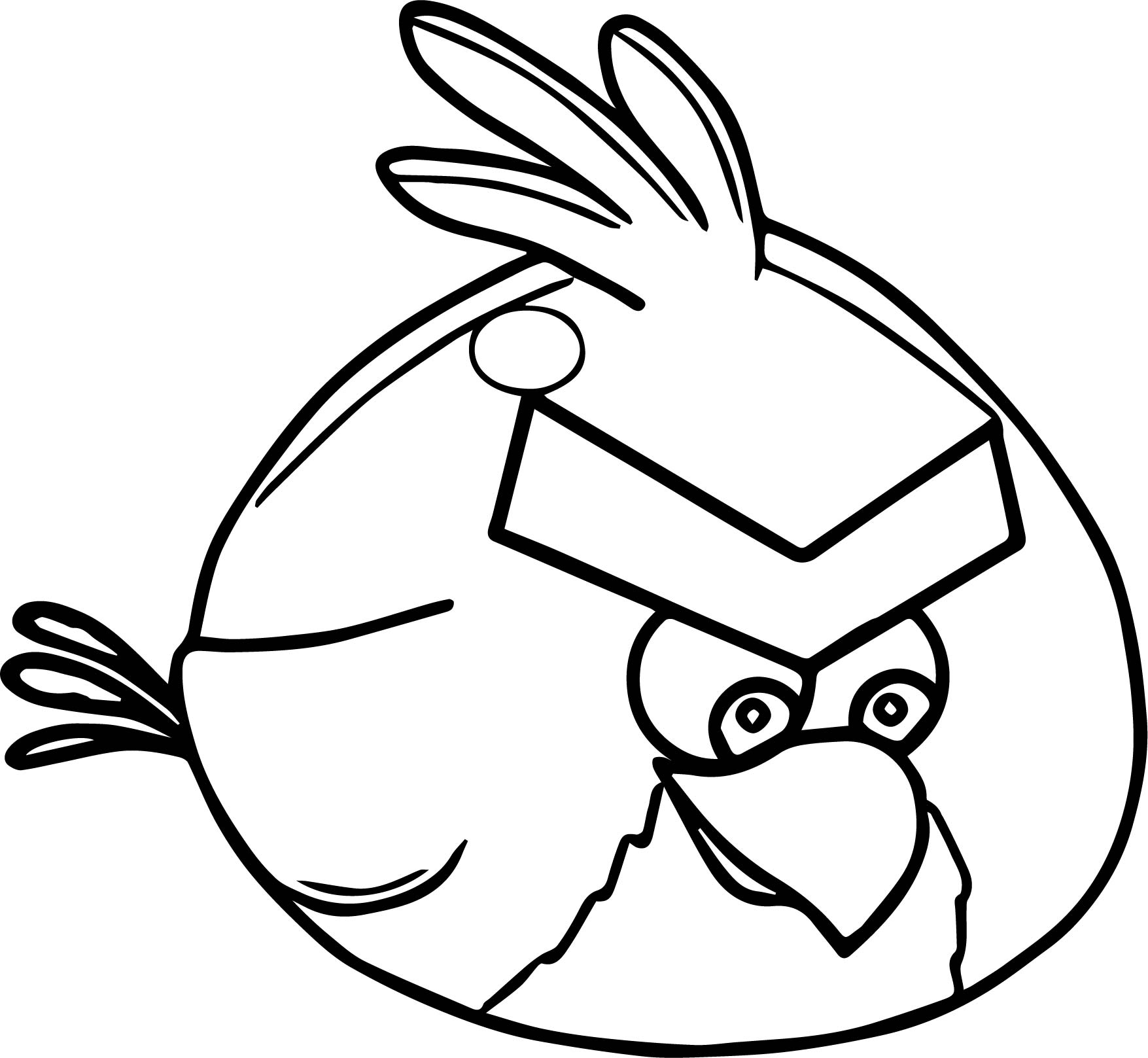 Red Animation Fly Angry Birds Coloring Page | Wecoloringpage.com