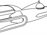 Retro Rocket Ship Coloring Page