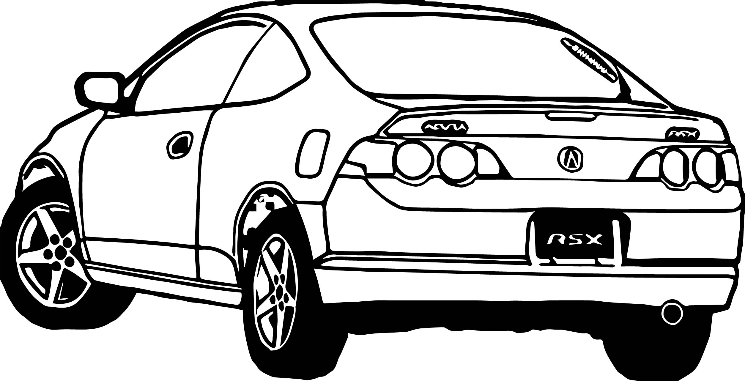 Rsx Car Coloring Page