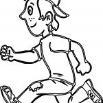 Running Boy Coloring Pages
