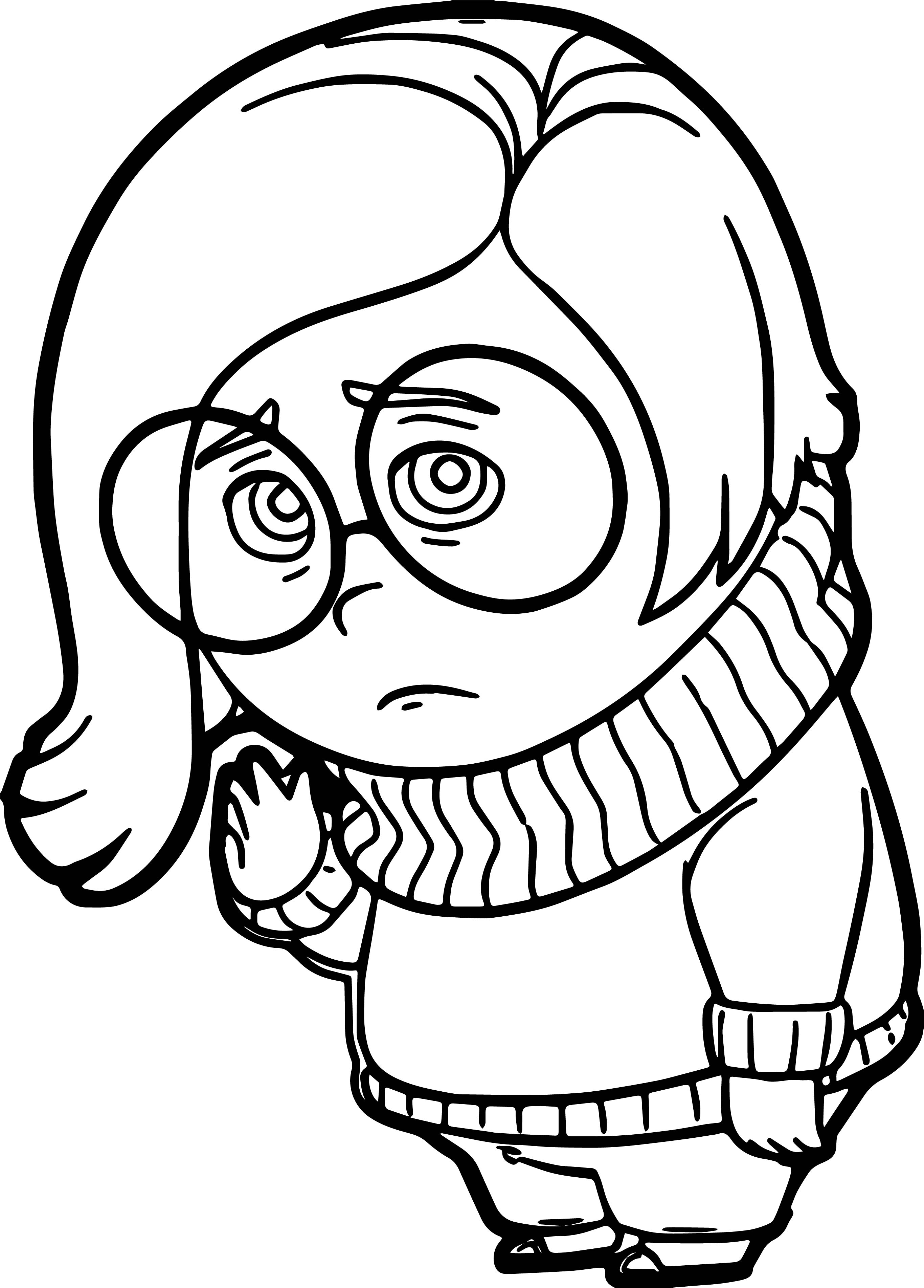 Sadness Me Coloring Pages