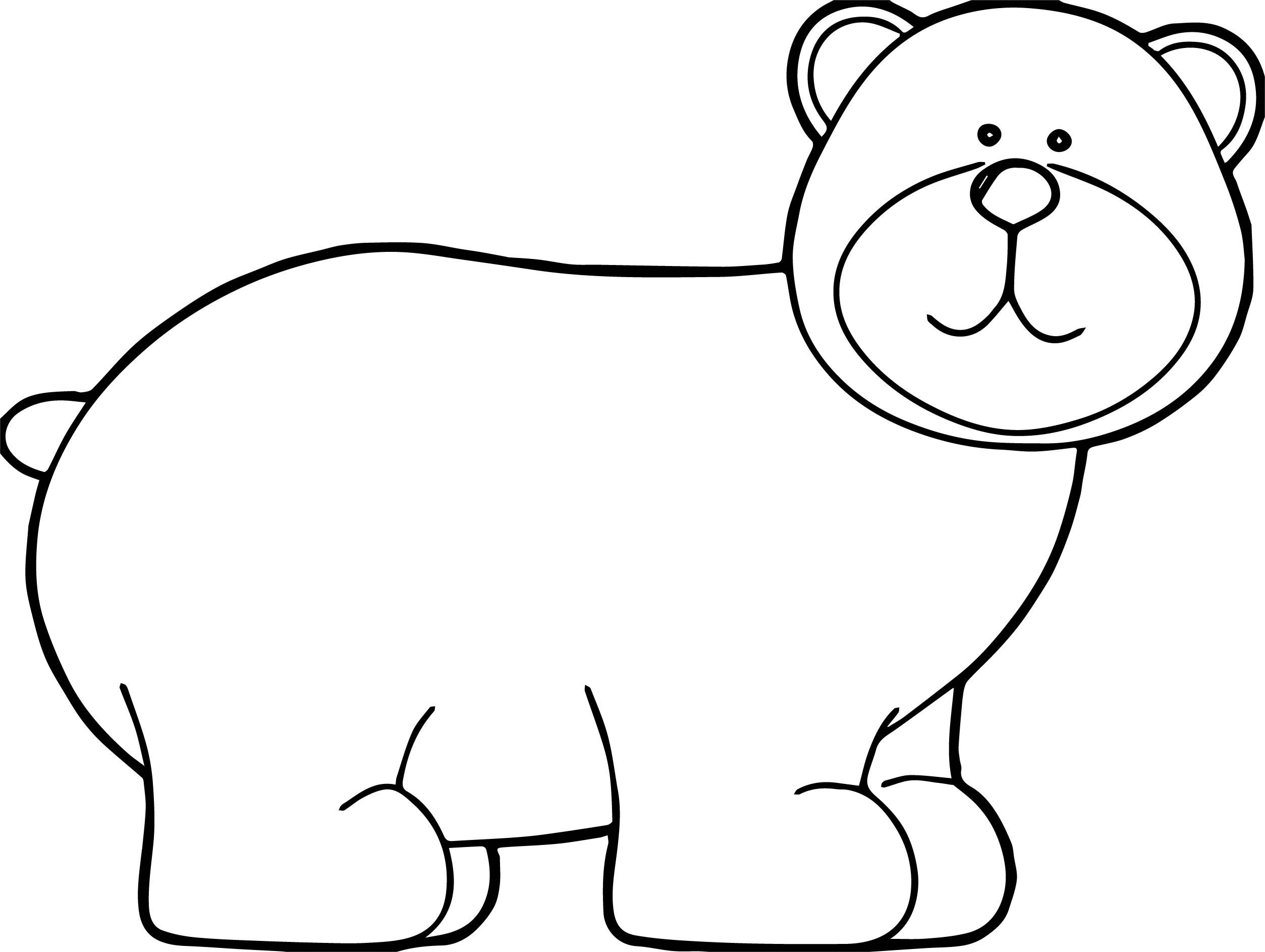 Said Bear Coloring Page