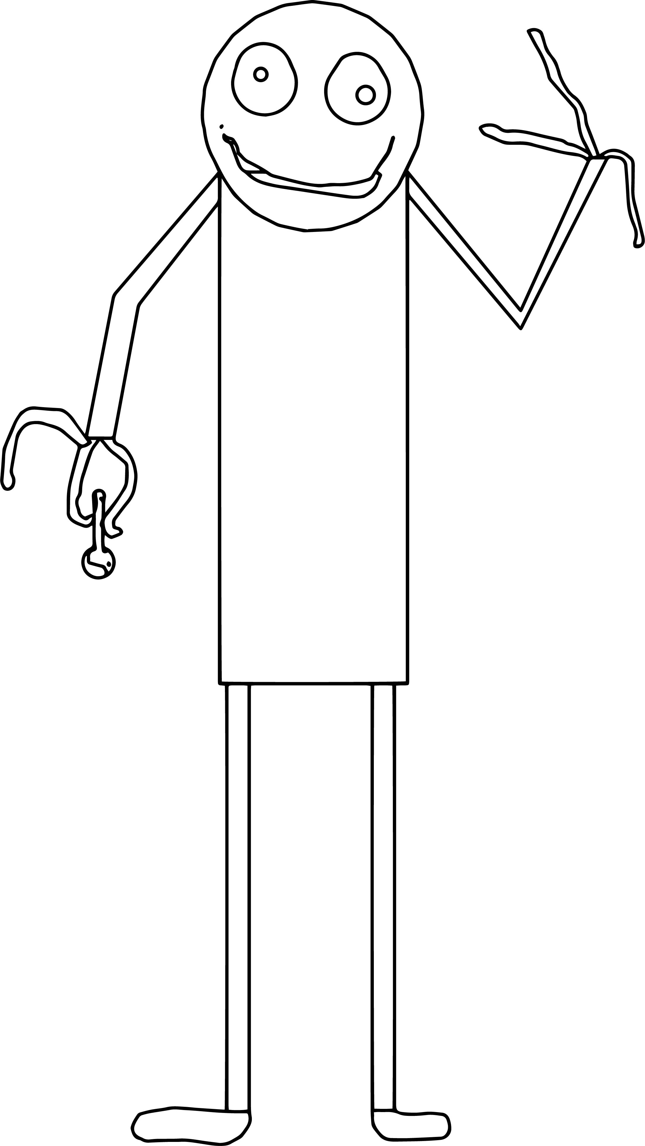 Salad Fingers Coloring Page