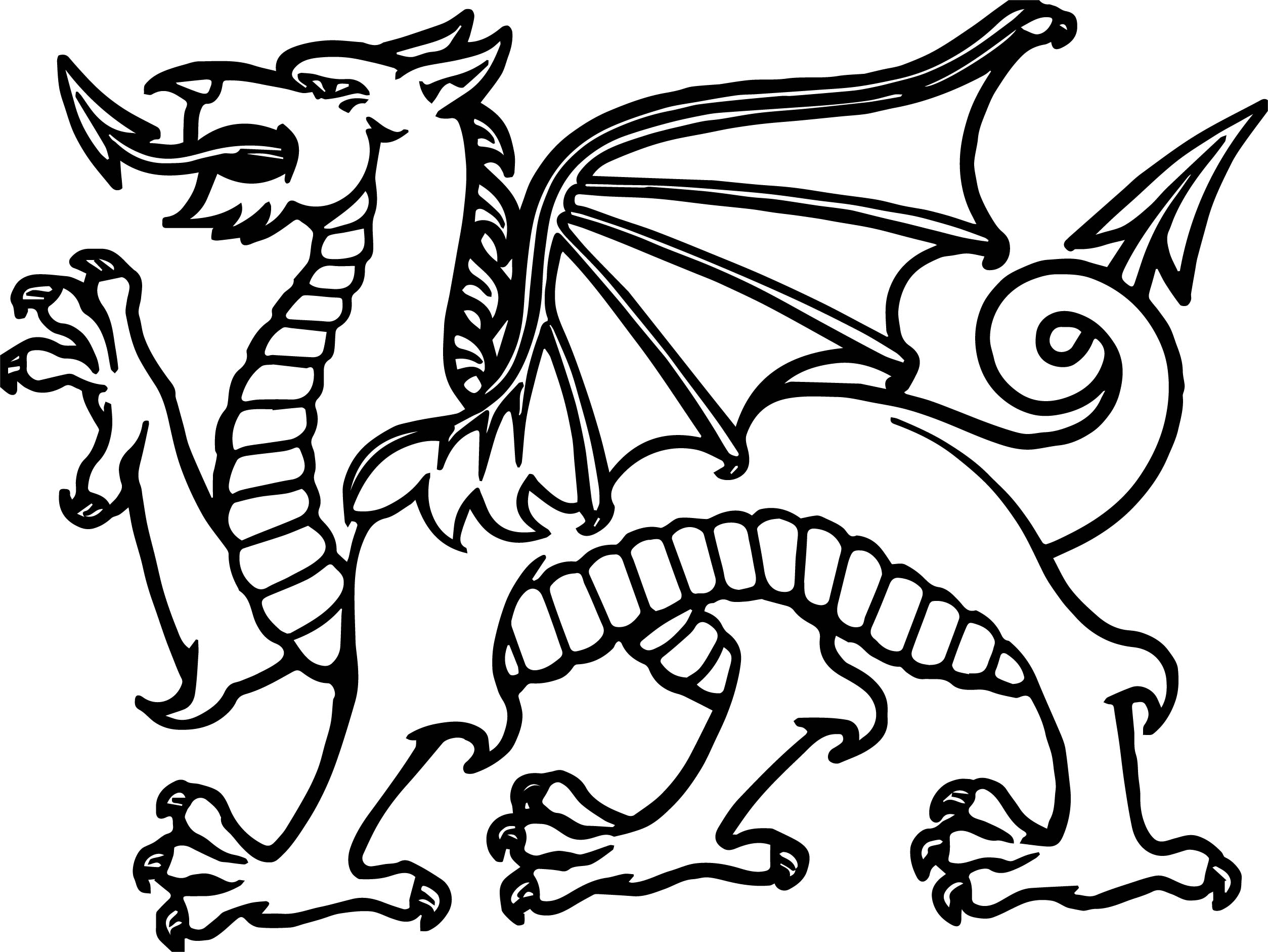 Side Dragon Coloring Page