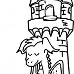 Sleeping Castle Dragon Coloring Page