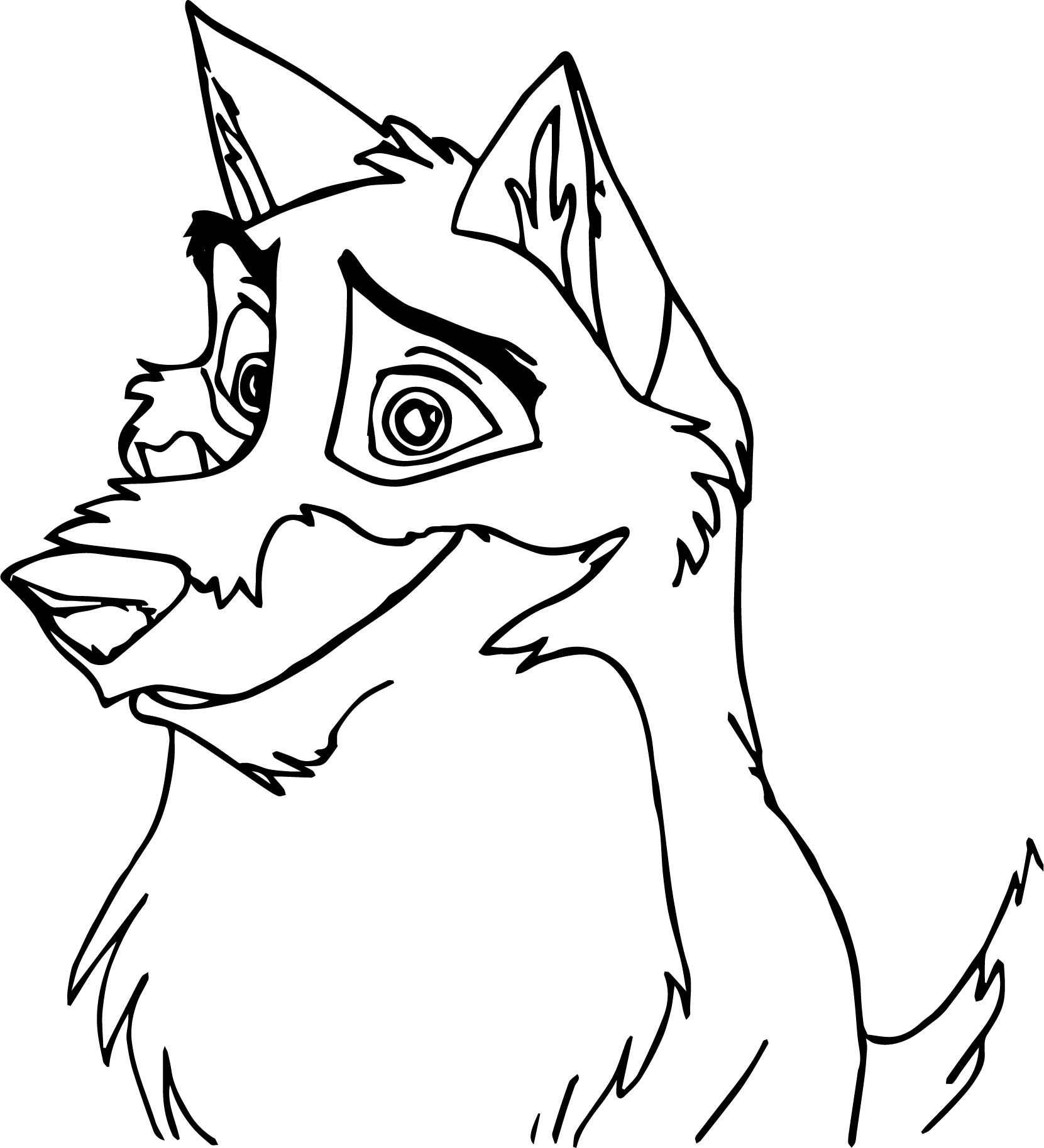 Smile balto coloring page for Balto coloring pages
