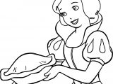 Snow White Cake Coloring Page