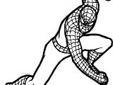 Spider Man Punch Coloring Page