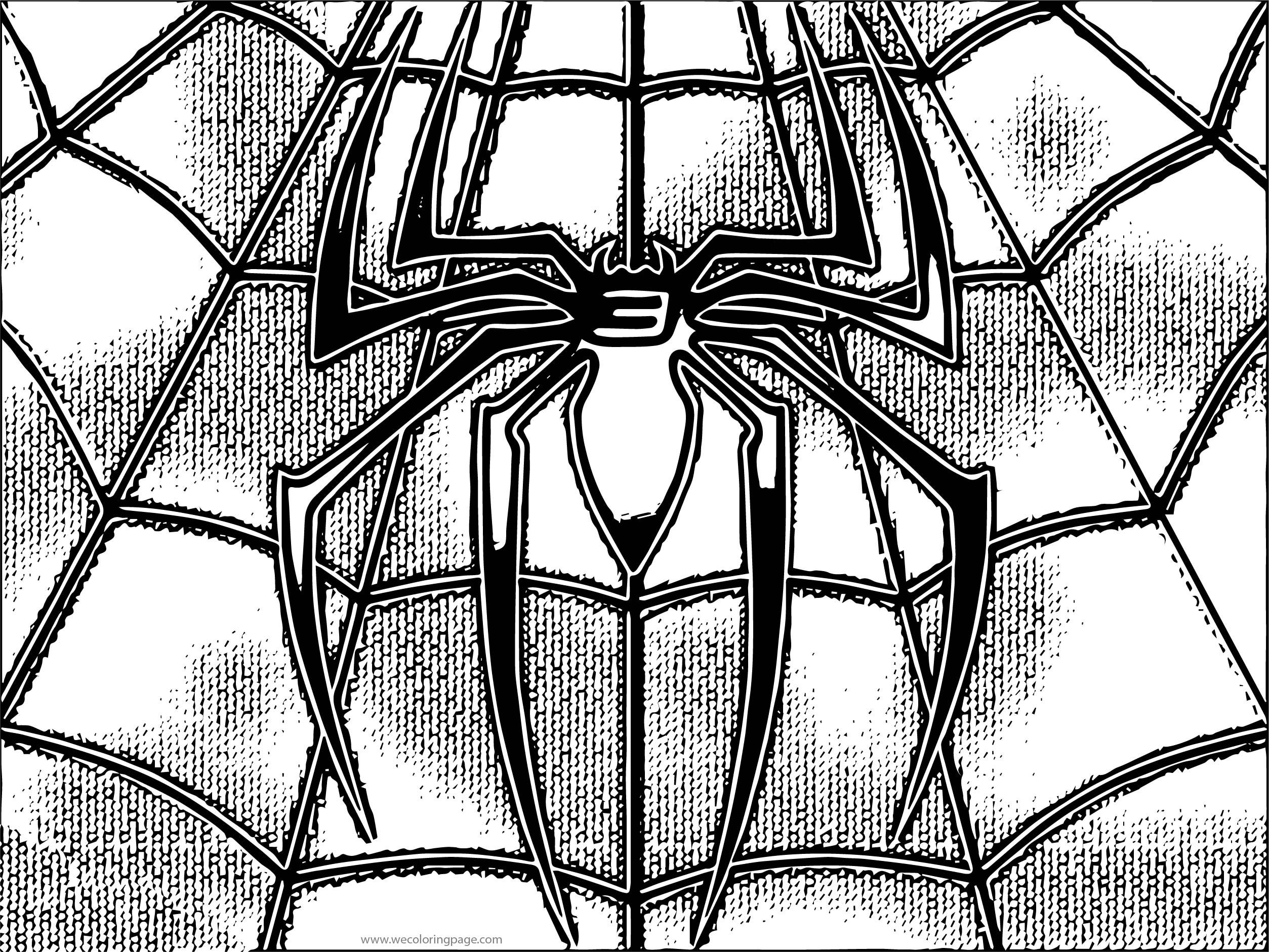 Spider Man Shirt Coloring Page