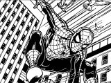 Spider Man Train Way Coloring Page