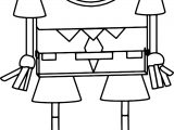 Sponge Bob Toon Coloring Page