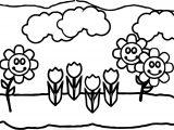 Spring Flower Spring Children Coloring Page