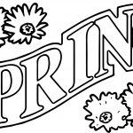 Spring Text Flower Coloring Pages
