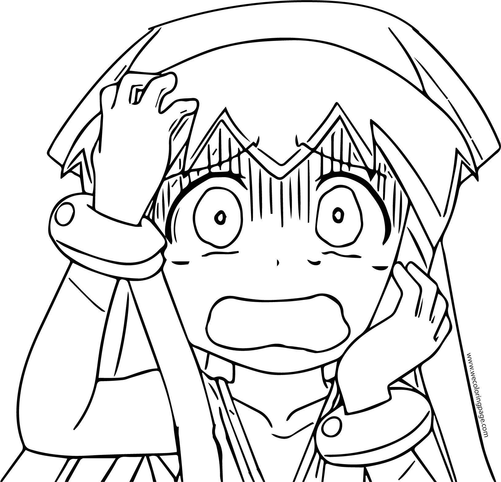 Squid Girl Coloring My Head Page