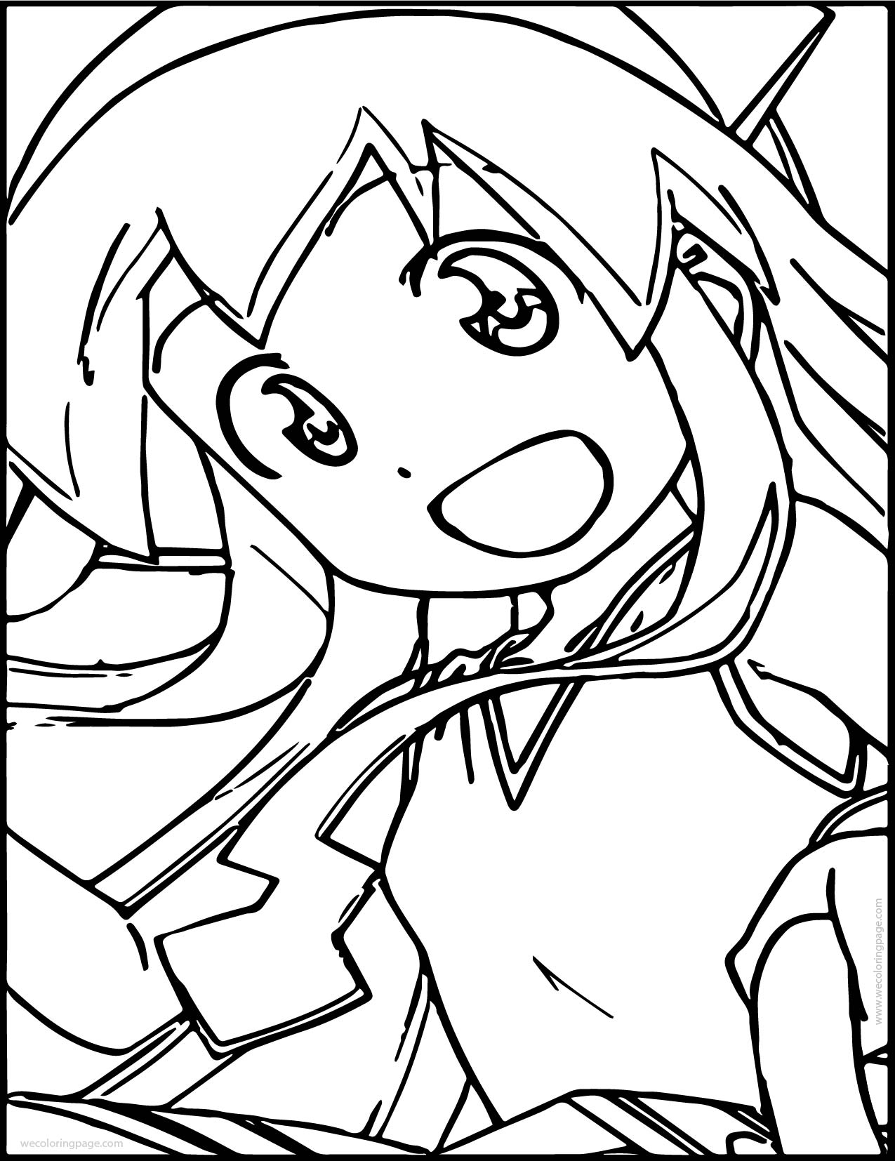 Squid Girl Photo Picture Coloring Page