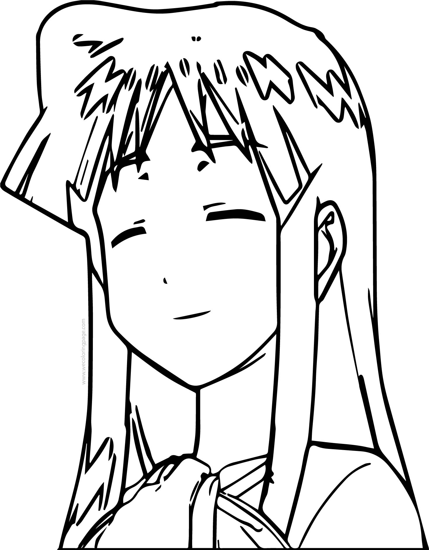 Squid Girl Relax Coloring Page