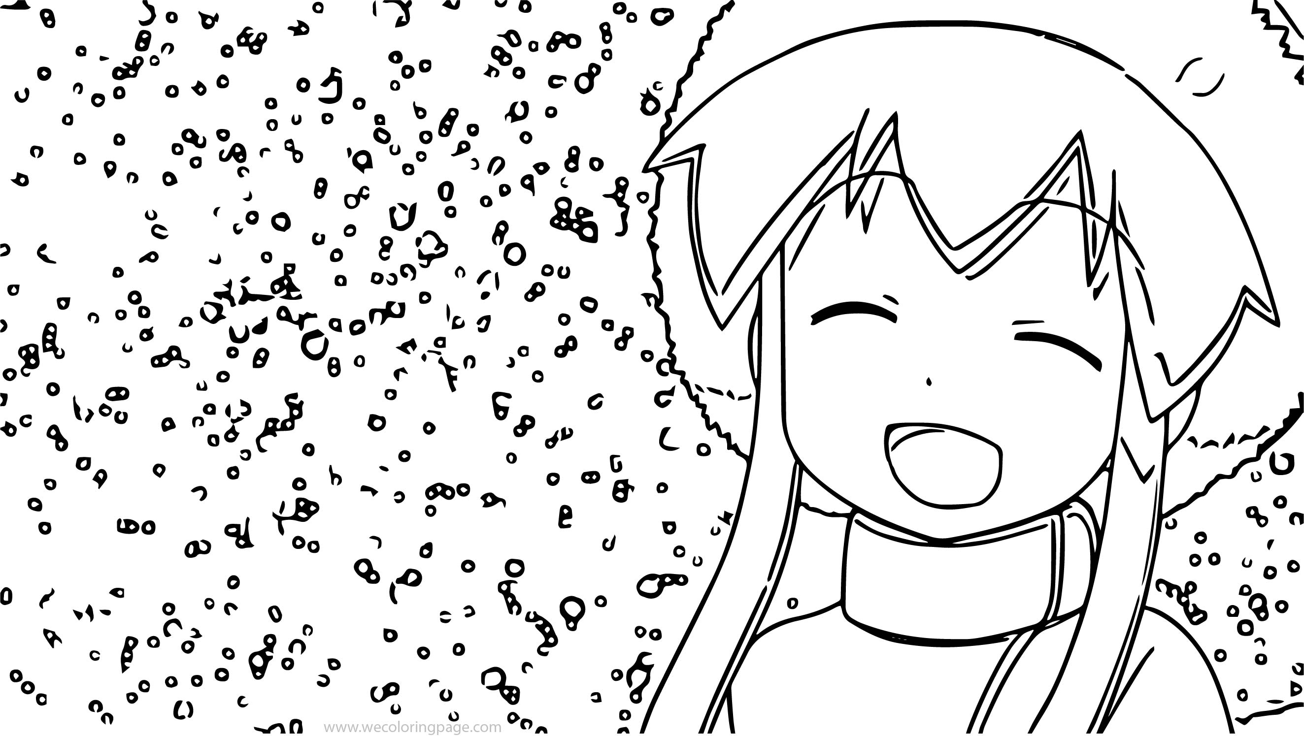 Squid Girl Snow Coloring Page
