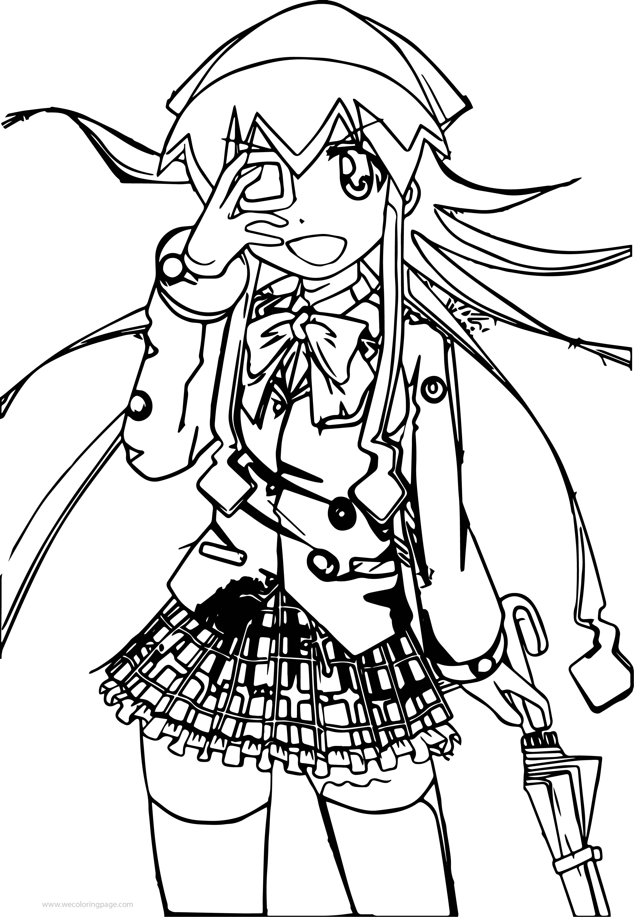 Squid Girl Soldier Coloring Page