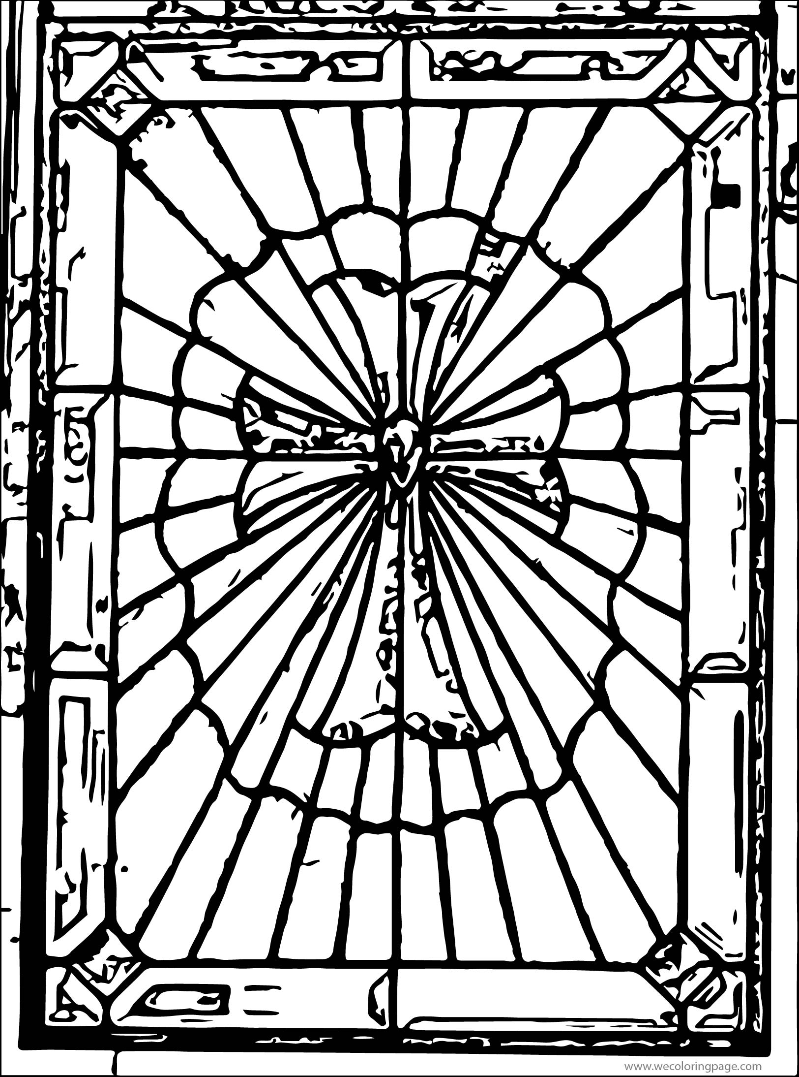 Stained Book Coloring Page