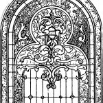 Stained Glass Church Window Art Coloring Page