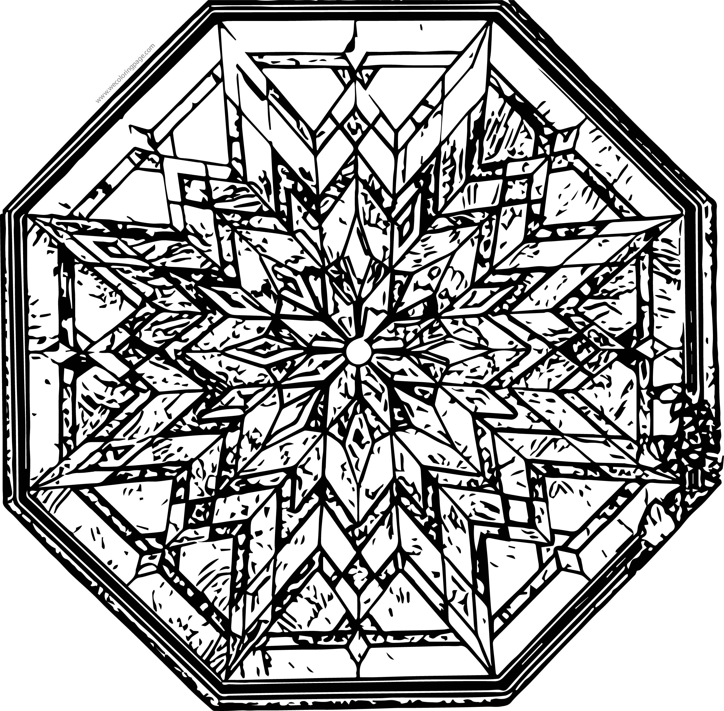 Stained Glass Coloring Page | Wecoloringpage