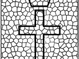Stained Glass Cross Hoard Coloring Page