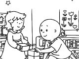 Stars Cube Game Caillou Coloring Page