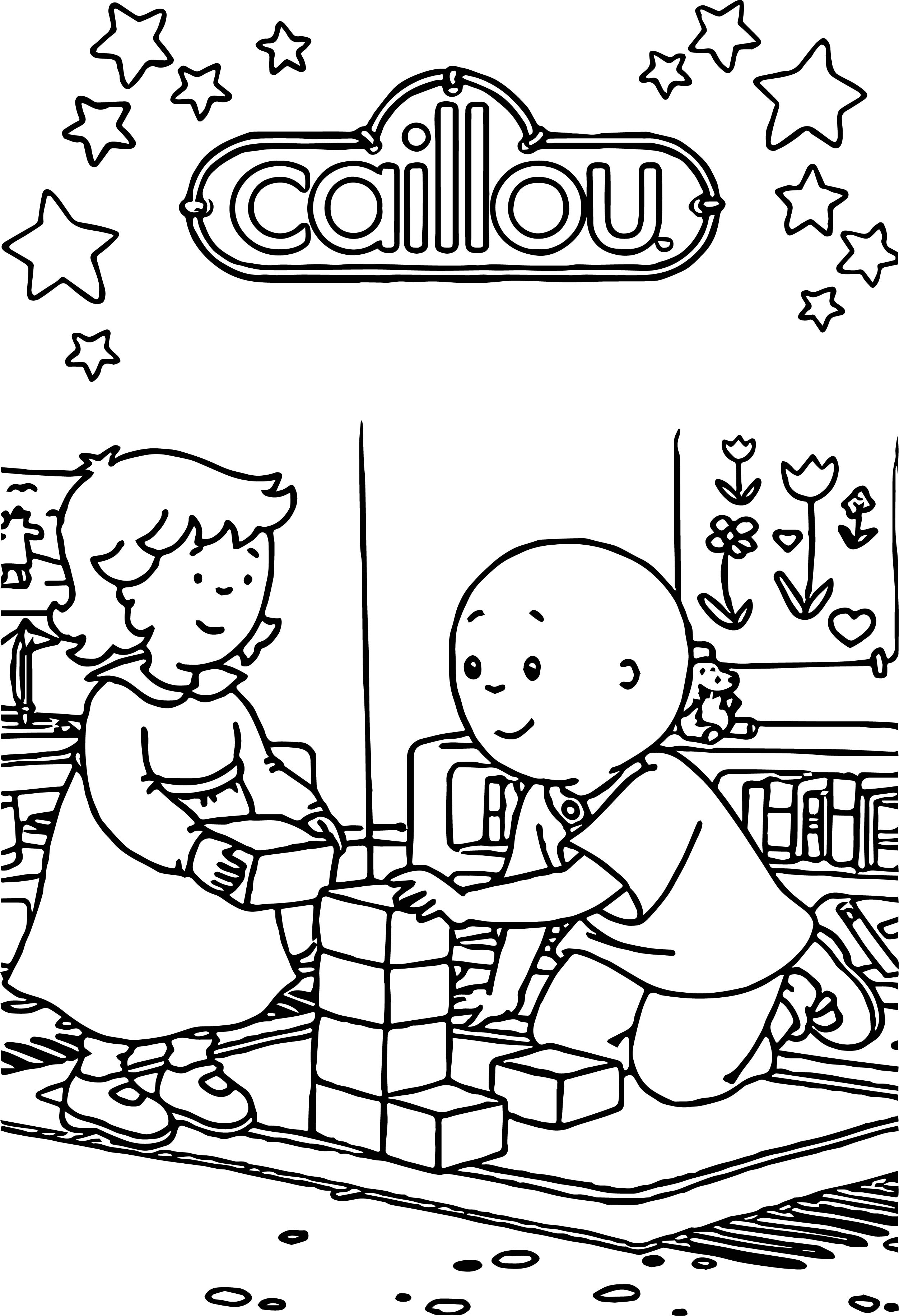 Stars Cube Game Caillou Coloring Page | Wecoloringpage