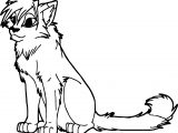 Staying Cat Coloring Page
