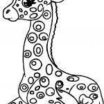 Staying Kids Girl Giraffe Coloring Page