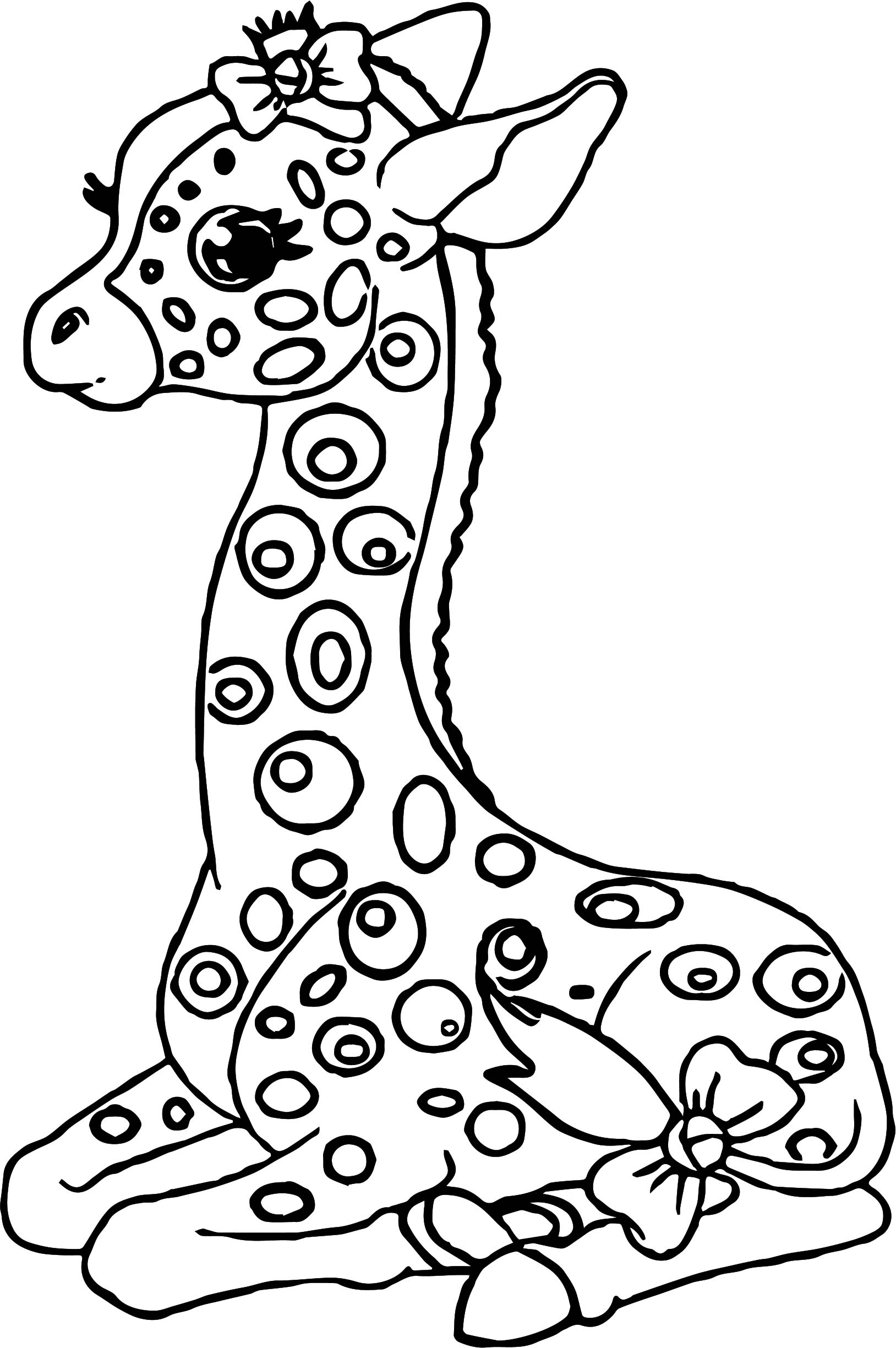 Staying Kids Girl Giraffe Coloring Page