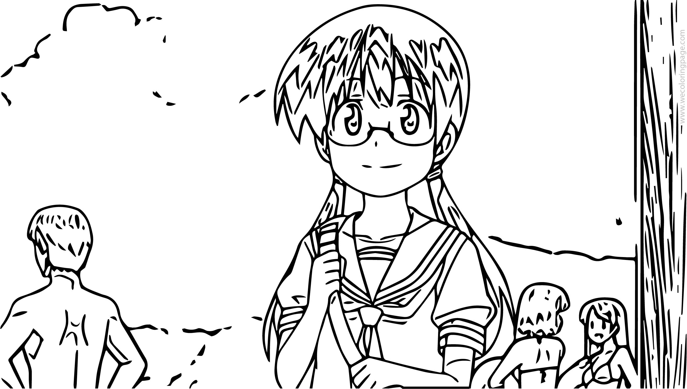 Stella Image School Girl Coloring Page