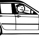Stick Figure Car Coloring Page
