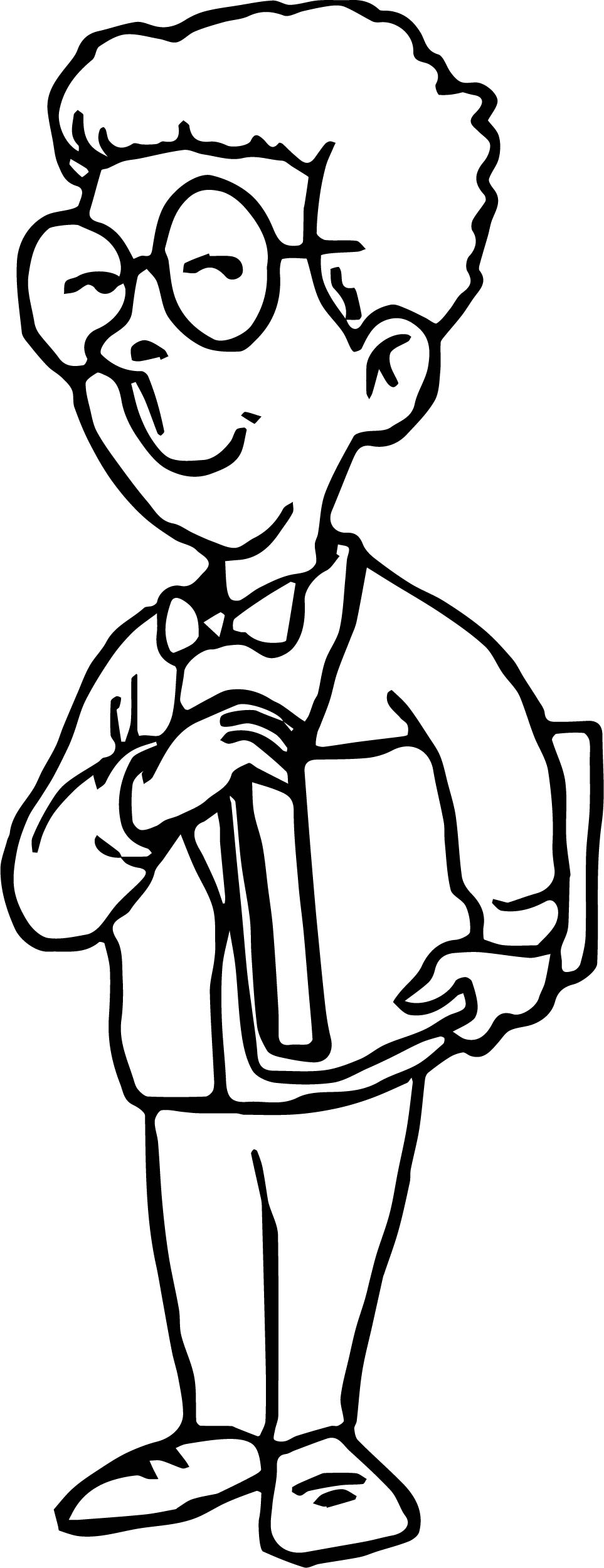 Student Boy Coloring Page